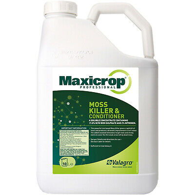 Maxicrop Moss Killer and Lawn Tonic 10 LT saturates moss for quick control
