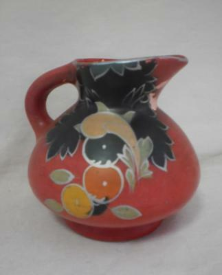 Red Floral Jug - Made In England