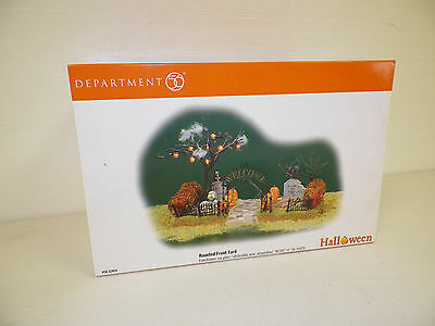 Dept 56 Halloween Haunted Front Yard With Original Box