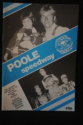 SPEEDWAY - Poole v Exeter - 27 Aug 1984