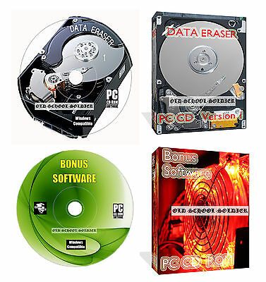 Hard Disc Drive Data Format Delete Wipe Clean Erase Destroy + Data Recovery Cd
