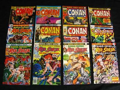 Conan The Barbarian Red Sonja Lot of 12 Marvel Comic Books Bronze-Age