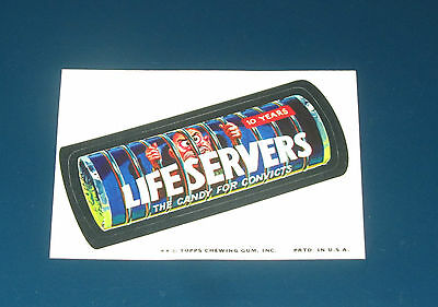 73 WACKY PACKAGES SERIES 10 LIFE SERVERS NM/MT