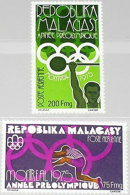 MADAGASCAR MALAGASY 1975 765-66 C147-8 Pre Olympic Year Weight Lifting Sport MNH
