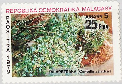 MADAGASCAR MALAGASY 1979 852 598 Heilpflanze Medical Plant Pflanze Flora MNH