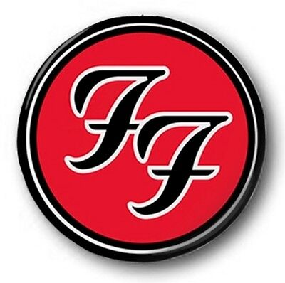 """Foo Fighters Logo - 25mm 1"""" Button Badge - Colour, Dave Grohl"""