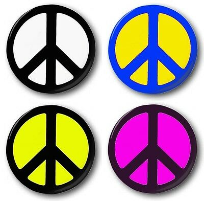 """Peace Symbol  1"""" / 25mm Button Badge (Various Colours)- Ban the Bomb, CND logo"""