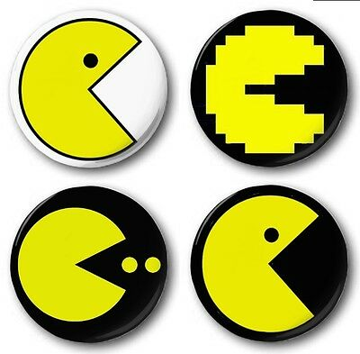 """Pin Button Badge Ø25mm 1/""""  Retro Game Arcade Game Vintage Jeux 80s Pacman Clyde"""