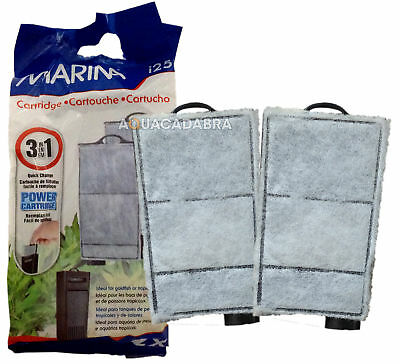 HAGEN MARINA i25 1, 2, 3, 6, 12, 24 REPLACEMENT POWER FILTER CARTRIDGE 2 PACK