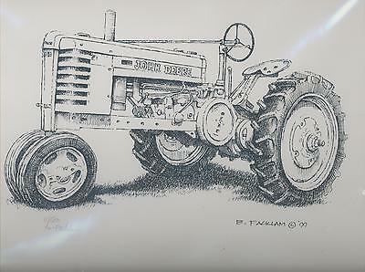 John Deere Tractor Print H Limited Edition Numbered #'d 11/500