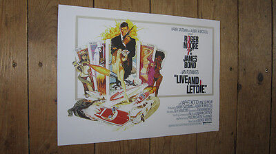 James Bond 007 Live and Let Die Repro POSTER