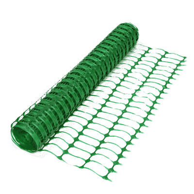 Green Plastic Mesh Barrier Fencing Netting - 1m x 50m Roll. Event Garden Project