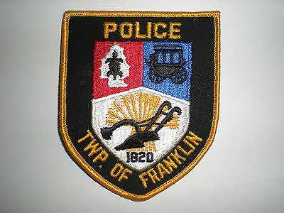 Township Of Franklin, New Jersey Police Department Patch