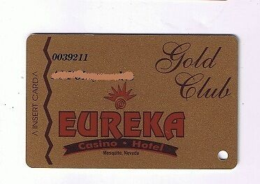 Eureka Hotel Casino Gold Club Slot Machine Card Mesquite Nevada