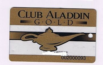 Aladdin Hotel Casino Gold Status Geni Lamp Slot Machine Card Las Vegas Nevada