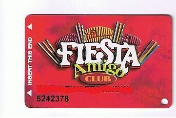 Fiesta Casino Hotel Amigo Club Slot Machine Card Henderson Nv
