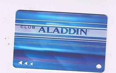 Aladdin Hotel Casino Blue Slot Machine Card Las Vegas Nevada