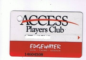Edgewater Hotel Casino Slot Machine Card Laughlin Nevada