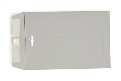 6 1/2 x 9 1/2 Gray Kraft Clasp Envelopes 25 per pack