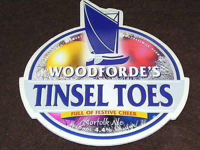 Beer Pump Clip - Woodforde's Tinsel Toes