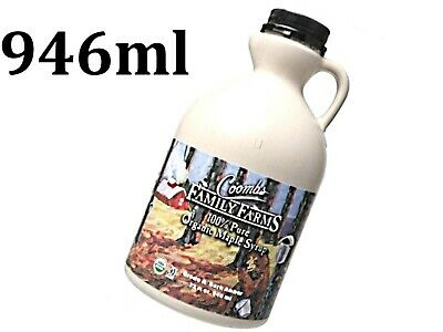 1 x 946ml COOMBS FAMILY FARMS 100% Organic Pure Maple Syrup Grade A Dark Amber