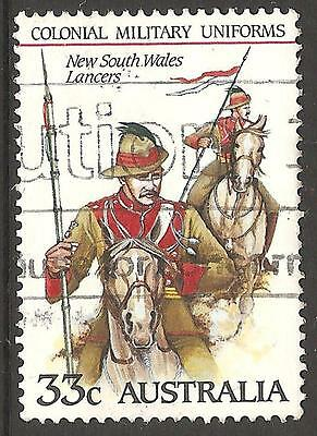 New South Wales Lancers Colonial Military Uniform Stamp Australia Used Lot (50)