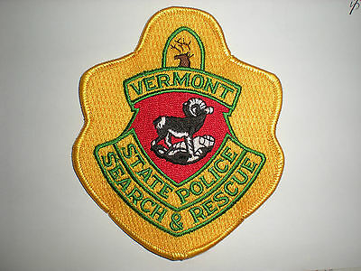 Vermont State Police, Search And Rescue Patch