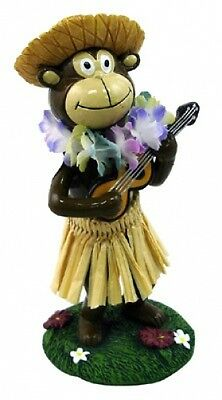 New Hawaii Miniature Car Truck Dashboard HULA MONKEY with Ukelele Doll 40788