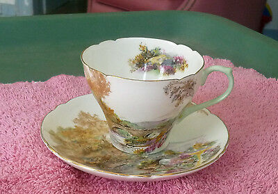 Small Shelley China TeaCup in Heather Pattern