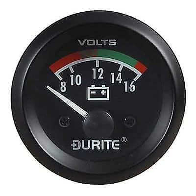 Durite 12V Illuminated Battery Condition Volt Meter 52mm Gauge 0-523-22