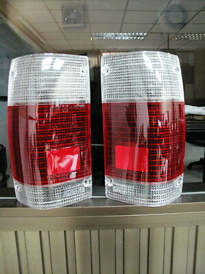 2 X Tail Light Clear-Red Lenses For Mazda B2000 B2200 B2600 1986-95 87 88 89 90
