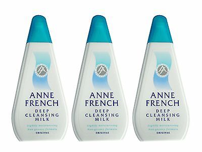 Anne French Deep Cleansing Milk Original 200ml - Pack of 3
