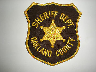 Oakland County, Michigan Sheriff's Department Patch