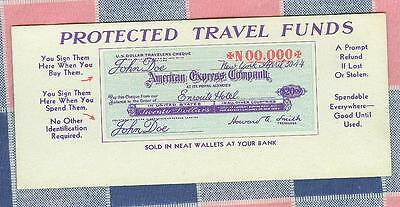 Old Ink Blotter American Express Company 2 1/2 x 5 3/4 Inches