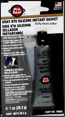 Pro Seal Gray RTV Silicone Instant Gasket Low Volatile Formula  New In Package