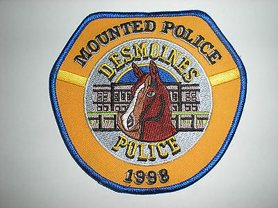 Desmoines, Iowa Police Department Mounted Police Patch