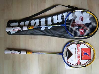 New 2 X Titanium Carbon Badminton Rackets with Bag
