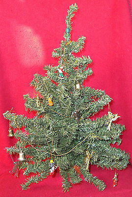 "15"" Artificial Free Standing Christmas Tree Centerpiece w/ Ornaments & Garland"