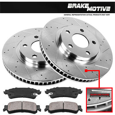 Front Drill Slot Brake Rotors & Ceramic Pads 2006 2007 2008 2009- 2011 Chevy HHR