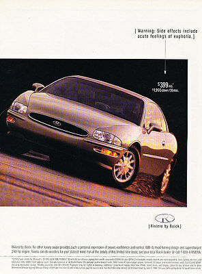 1996 Buick Riviera - deal - Classic Vintage Advertisement Ad D05
