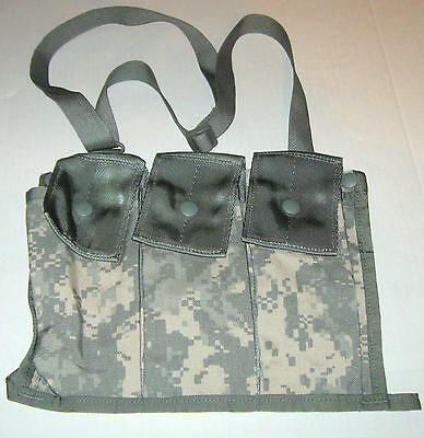 NEW US Army Military Surplus MOLLE II 6 Mag ACU Bandoleer Pouch Various Mfgrs.