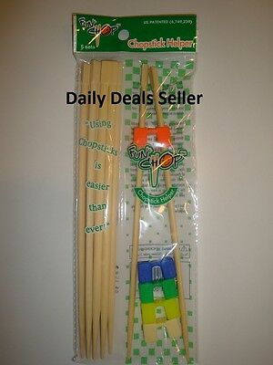 Chopstick Helpers Set of 5 Connected Chopsticks How To Use Chop sticks NIP