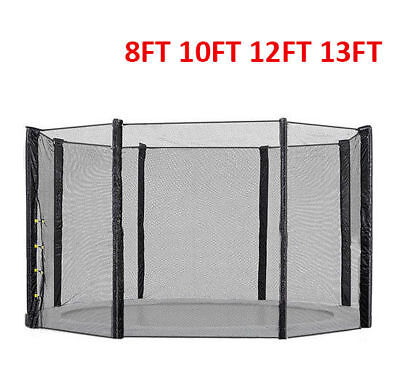 Replacement Trampoline Safety-Net Enclosure Net Surround 8Ft 10Ft 12Ft 13Ft
