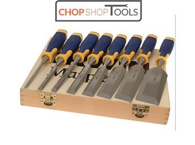Irwin Marples Chisel 8 Piece Set (6 & 2 Free) In Wooden Case 10507958 MS500