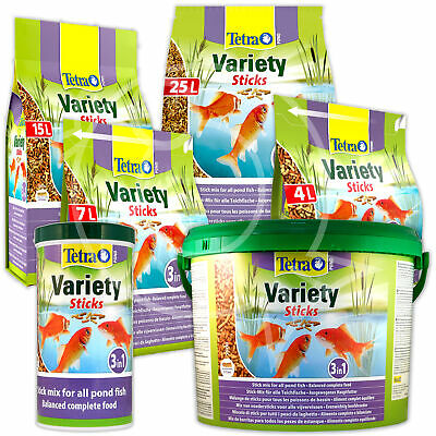Tetrapond Variety Fish Food Sticks Tub Bag Bucket Floating Koi Tetra Pond
