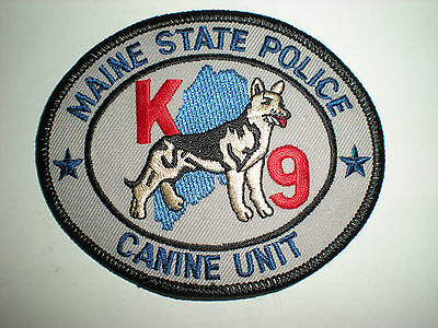 Maine State Police K-9 Unit Patch