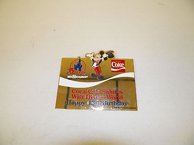 Disney Coca Cola 15Th Anniversary Pin Coca Cola Salutes Walt Disney World 15Th