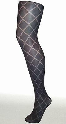Diamond Opaque Tights, Grey, Brown, Navy Wine, Green, £5 for 6 pairs FREE P&P