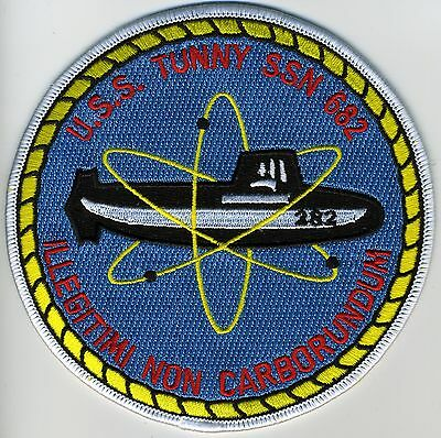 USS Tunny SSN 682 - Sub & Atom BC Patch Cat No B351