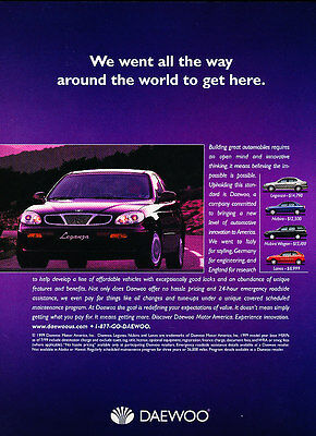 2000 Daewoo Leganza - line intro -  Classic Vintage Advertisement Ad D08